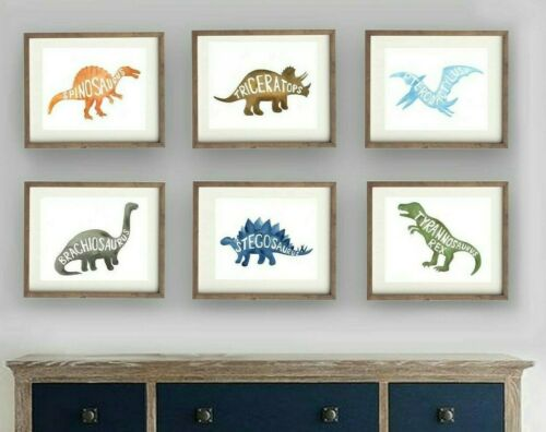 dinosaur wall art decor for boy dinosaur bedroom, dinosaur nursery art prints