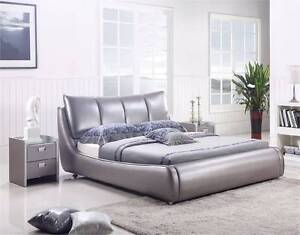 【Brand New】Luxury Real Leather Queen Bed(floor stock) only Nunawading Whitehorse Area Preview