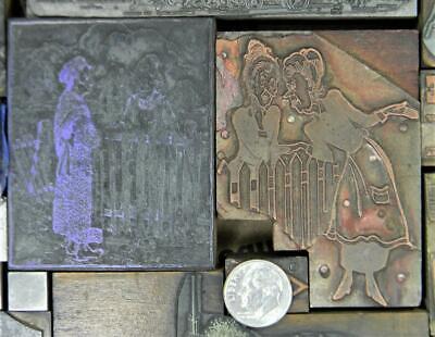 Vintage Metal Letterpress Print Type 18-198pt Variety Metal Wood Cuts Mb94 3