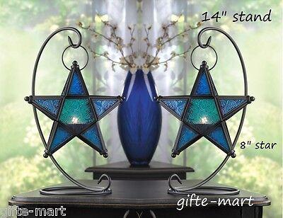 - 2 BLUE Moroccan STAR 14