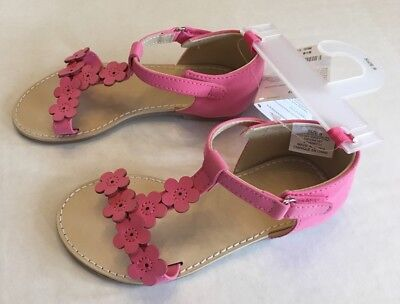 NWT Gymboree Family Brunch Sz 9 Pink Easter Flower Toddler Sandals for about 3T (Easter For Toddlers)