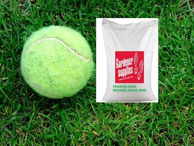 20kg Grass Seed Premium Garden Lawn Hard Wearing Child & Dog Use Certified