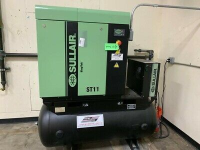 15 Hp Air Compressor Sullair Rotary Screw Excellent Condition  Under 600 Hrs
