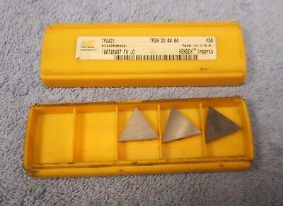 Kennametal Carbide Inserts  Tpg 431 Grade K68  Pack Of 3