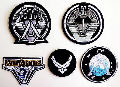 Stargate SG-1 TV Series Patches Full Set of 5 Command Uniform Goth Punk Logo