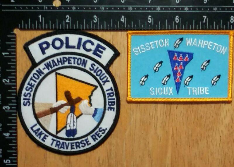 Sisseton Wahpeton Sioux Tribe Police Patch (2 Patches) South Dakota