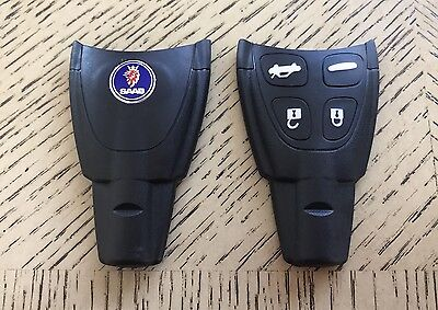 Saab 9 3 Factory Soft 4 Button Remote Key Fob Shell Case Original Quality Kit