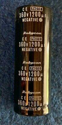 1 Rubycon 50uF 330V photo-flash Electrolytic Capacitor