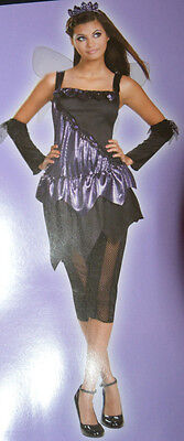 Ladies Totally Ghoul Purple Gothic Fairy Outfit Teen Halloween Costume Jrs. 7-9 (Womens Gothic Halloween Costumes)