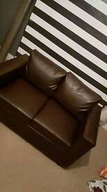 Faux Leather Sofa 2 Seater