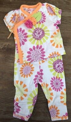(Girls 6 Months Boutique BABY LULU Patty Bliss 2pc Kimono Set NEW Pants Outfit)