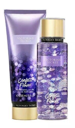 Victoria's Secret CONFETTI FLOWER Fragrance Mist and Fragrance Lotion Set