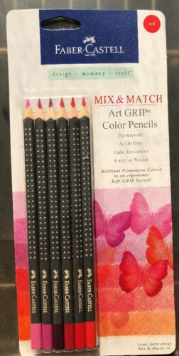 Faber-Castell Art Grip 6 Pack Reds Color Pencil Mix and Matc