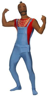 Adult M Action TV Show The A-Team Mr T 2nd Second Skin Morph Bodysuit Costume