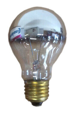 LIGHT BULB Crompton Silvered Crown 60W Edison Screw Cap Quality BULB