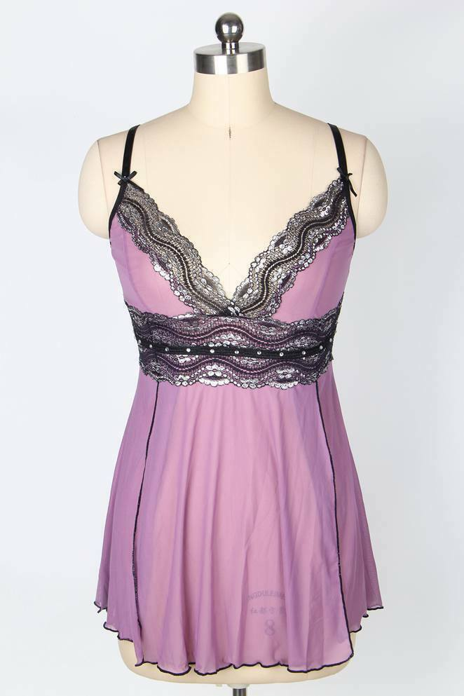 Sexy-Womens-Lace-Lingerie-Dress-G-string-Babydoll-Underwear-Sleepwear Plus Size Clothing, Shoes & Accessories