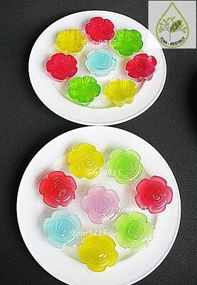 Flower Shape 100pcs.0.33oz.Disposable Plastic Cups Container Mini Jelly Cup Cake