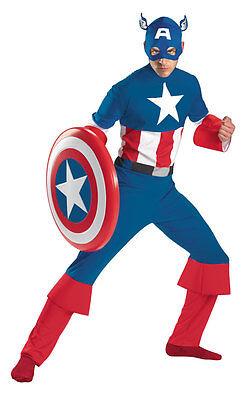 Capitan America Classico Adulto Costume Fumetto Marvel Taglia 42-46