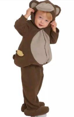 EUC OLD NAVY BROWN 2 PIECE MONKEY HALLOWEEN COSTUME SIZE12-24 MONTHS](2 Month Old Halloween Costumes)