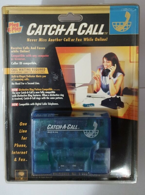Catch-A-Call Telephone Line Sharing Device Phone Fax Internet One Line New