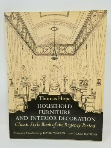 Thomas Hope Regency Period Book Plates of Interior Design Style Furniture Arch