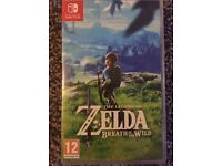 Nintendo Switch Legend of Zelda Breath of the Wild Game Great Condition LOZ