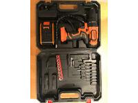 21 Volts Cordless Combi Drill Worklight Power Tool Set Electric Screwdriver Builder DIY Case