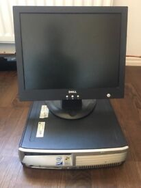 "3GB HP Desktop + 15"" Monitor"