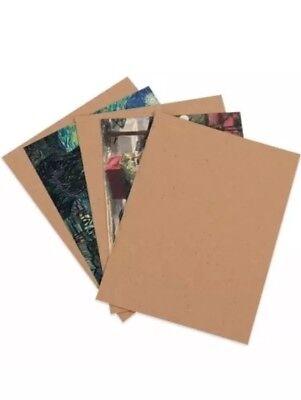 50 sheets chipboard cardboard photo backing 8x10