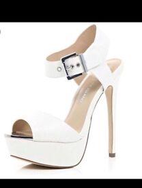 White platform sandals size 6 for sale