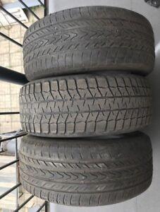 3 pneus 205/55/16 été hiver $60