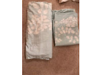 Turquoise and white floral double duvet set