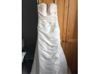 Beautiful strapless a-line wedding dress