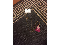 New with tags pink tassel necklace RRP £7.99