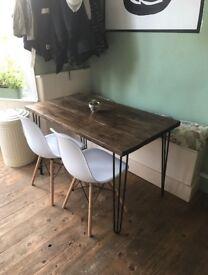 Hairpin Leg Table local craftsman Stylish modern rustic industrial