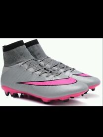 Nike superfly size 10 pink & grey