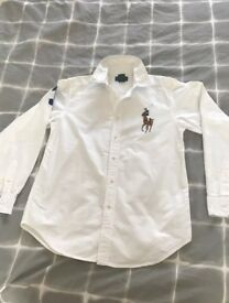 Ralph Lauren White shirt Age 14-16, Great Condition.