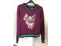 H&M quirky cat jumper.
