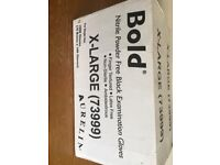 Bold black examination gloves X large