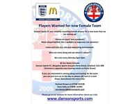 LOOKING FOR FEMALE ADULT FOOTBALL PLAYERS...