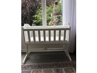 Baby swing cot bed
