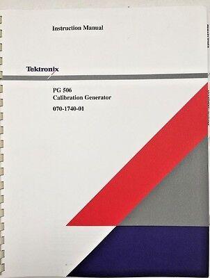 Tektronix Pg 506 Calibration Generator Instruction Manual Pn 070-1740-01