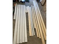 Skirting boards, floor boards, architrave, and spare wood