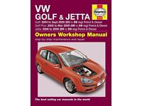 Brand new and sealed Haynes manual for VW Golf Mk5