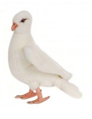 8 Inch Handcrafted White Dove Bird Plush Stuffed Animal by Hansa