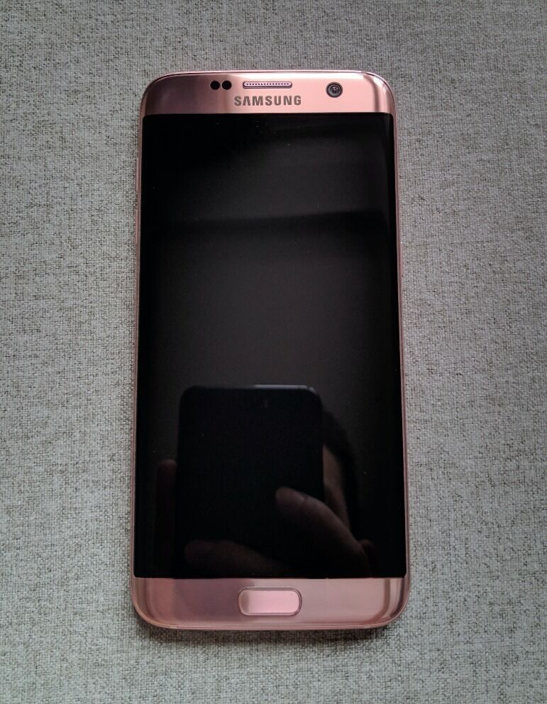 samsung galaxy s7 edge pink rose 32gb unlocked. Black Bedroom Furniture Sets. Home Design Ideas