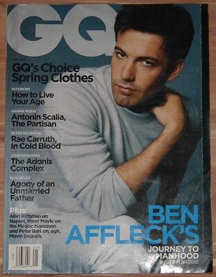 MAY 2001 GQ GENTLEMEN'S QUARTERLY MAGAZINE, BEN AFFLECK, SPRING FASHION