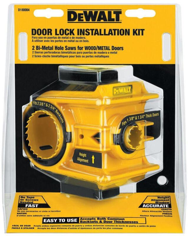 Door Lock Installation Kit Hole Saws Wood Metal Tool Repairs Workshop Home NEW