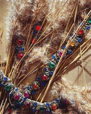 60s multicoloured set : necklace, bracelet, clip on earrings (90s Versace Style)