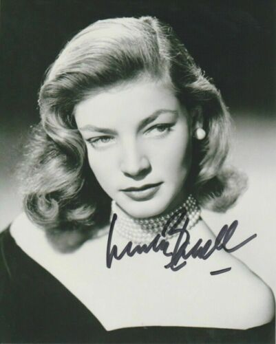 Lauren Bacall Autographed 8 x 10 Glossy Photo Reproduction